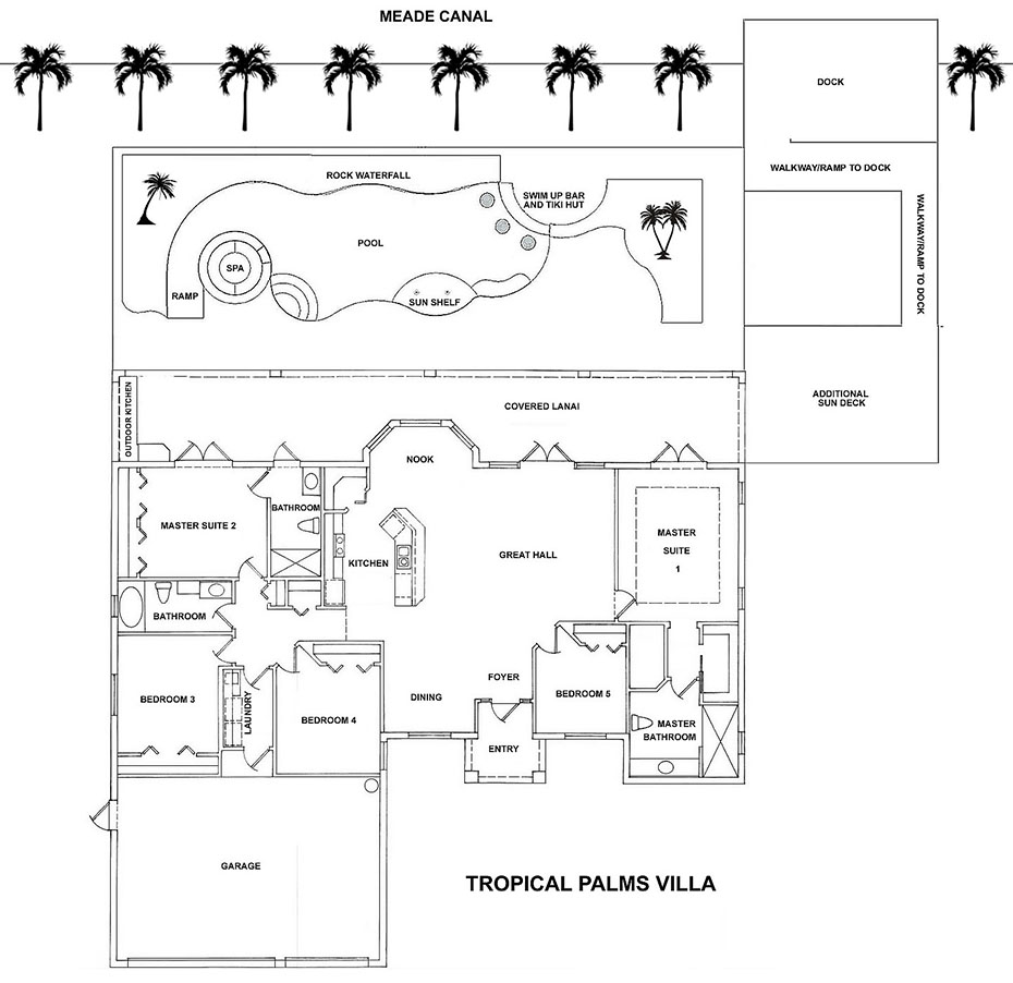Tropical Palms Villa Floor Plan